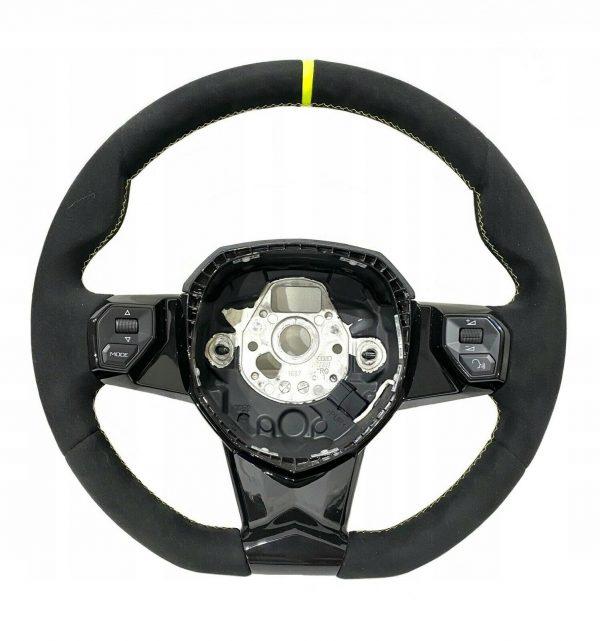 Lamborghini Aventador SVJ Leather Steering Wheel Alcantara/Yellow Stitches OEM