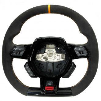 Lamborghini Huracan Performante Leather Steering Wheel Alcantara/Orange Stitches OEM