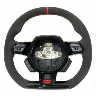 Lamborghini Huracan Leather Steering Wheel Alcantara/Red Stitches OEM