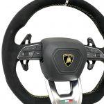 Lamborghini Urus Steering Wheel Limited Edition -Black Alcantara And Yellow Sign NEW